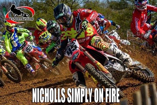 NICHOLLS SIMPLY ON FIRE